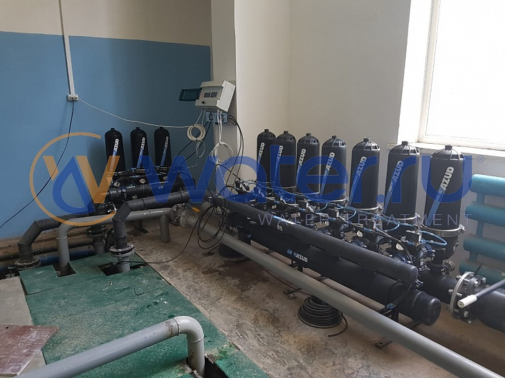 дисковые фильтры azud helix 203hf/4fx 100 мкм azud 207hf/6fx 5 мкм, подключенных последовательно